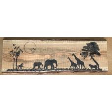 Afrika - tafereel (65 cm lang)