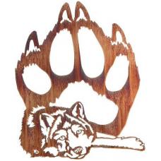 Wolf met pootafdruk