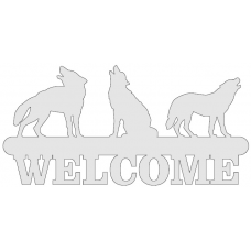 Welcome sign - wolven