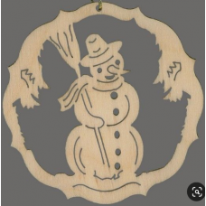 Kerstbal - Sneeuwman
