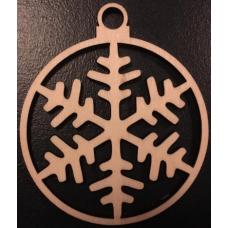 Kerstbal - Sneeuwvlok