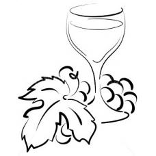 Druiven en Wijnglas