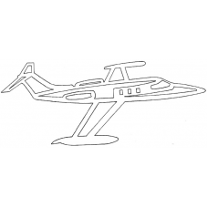 Vliegtuig - Learjet 24D