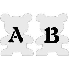 Letterbeer met letter
