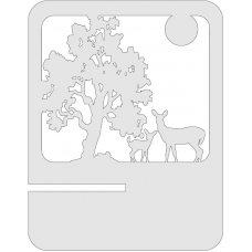 Tablet standaard - Bomen en Hert
