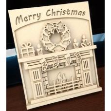 Christmas fireplace compleet