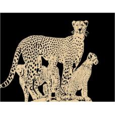 Cheetah and kittens