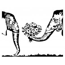 Olifanten en Bloemen